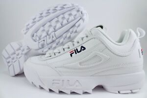 Details about FILA DISRUPTOR II 2 WHITE / PEACOAT BLUE / RED MEN  CROSS-TRAINING TRAINER