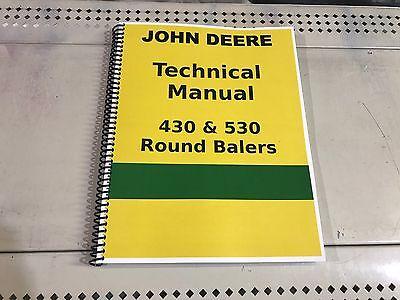 John Deere 530 Round Hay Baler Technical Service Shop Repair Manual | eBay