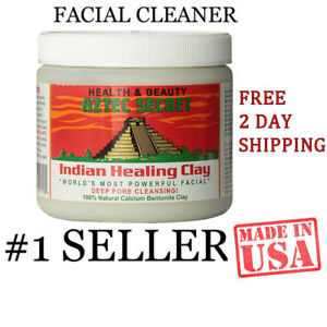 Aztec Secret Azteclay1LB Bentonite Clay 1lb Face and Body Cleansing Mask