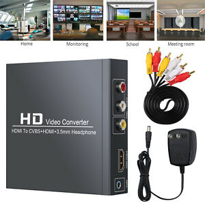 HDMI to RCA and HDMI+ 3RCA CVBS AV Audio Converter Composite Video Audio Adapter