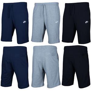 NIKE-Classic-Uomo-Pantaloni-Corti-Shorts-Cotone-Allenamento-Navy-Nero-Grigio