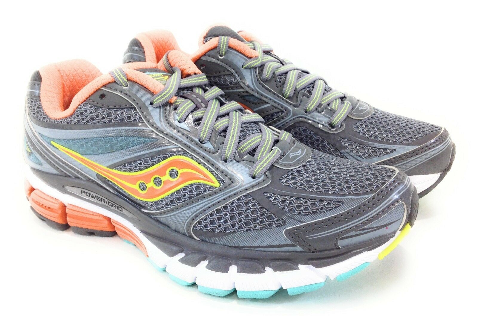 Saucony Womens Guide 8 Size 5.5 Grey Orange Blue Aqua New in Box