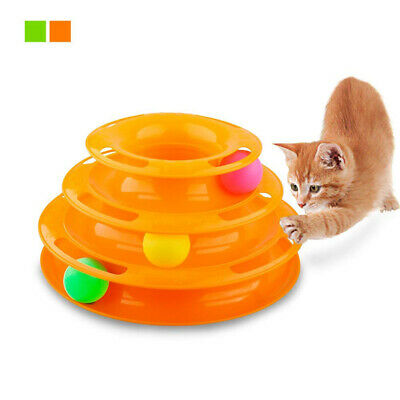 Pet Puppy Cat Toys Round Swivel Plate Cat Play Interactive Toy Turnplate toy