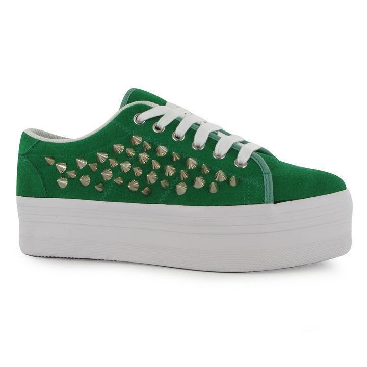 JEFFREY CAMPBELL PLAY ZOMG SPIKE SHOES – GREEN – SIZE 7 - BNIB
