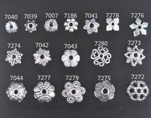 50-Pieces-Tibetan-Silver-spacer-Bead-Caps-DIY-Jewelry-Bracelet-Necklace-17-style
