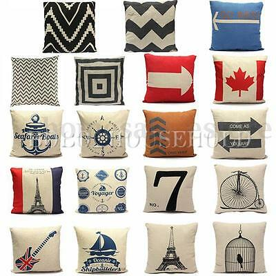 Fashion Pillow Case Cotton linen Cushions Cover Square Home Throw Sofa Simple