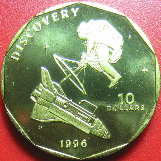 "1996 MARSHALL ISLANDS $10 SPACE SHUTTLE ""DISCOVERY"" NASA MISSION STS-41 1984 RRR"