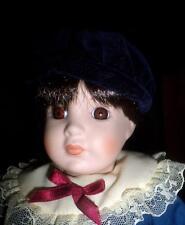 Kingstate Porcelain Doll Meet Albert Boy Doll Love those Dark Brown Eyes!