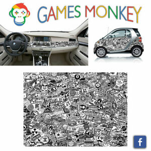 Pellicola-Car-Wrapping-Adesiva-70x50-cm-STICKER-BOMB-06-Vinile-PVC-Lucido-HD