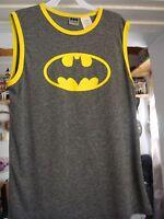Batman Youth Sleeveless Tank Top Gray/yellow Brand Size 18 Xxl Free Shipping