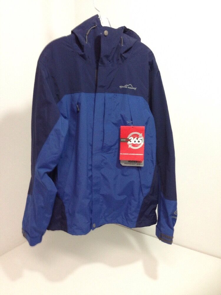 EDDIE BAUER MEN'S 365 WEATHEREDGE MIDWEIGHT SHELL  JKT NAVY ROYAL SM NWT