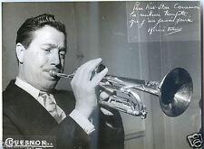 Jazz .Adrien Terme. photo publicitaire pour les trompettes Couesnon . années 50