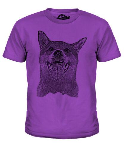 Shiba Inu Sketch Kids T-shirt homme à imprimé Grand Cadeau Pour Dog Amant Spitz du Japon