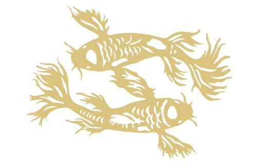 Koi Fish-2 Unfinished MDF Wood Cutout Variety Sizes USA Made Home Decor