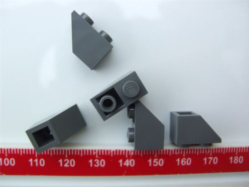 Parts /& Pieces 5 x Lego Grey Roof tile - 4211096 size 1x2 inv.
