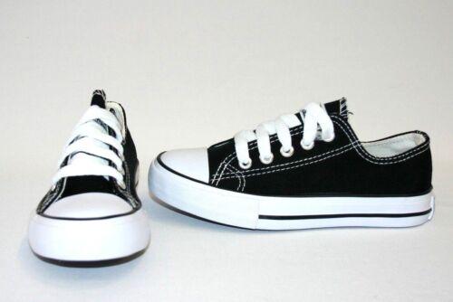 Kid/'s Classic Shoes Canvas Athletic Lace Tennis Boy/'s Girl/'s Rubber Sole sz 10-4
