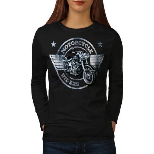 Bike Casual Design Wellcoda Rider Motorcycle Biker Womens Long Sleeve T-shirt