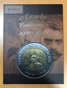 Mexico-Independence-amp-Revolution-5-Pesos-Coin-Collector-Album-Folder