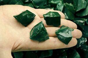"1 Pound of Green Jasper Rough - ""AAA"" Grade - Cabbing, Tumble Rocks, Reiki"