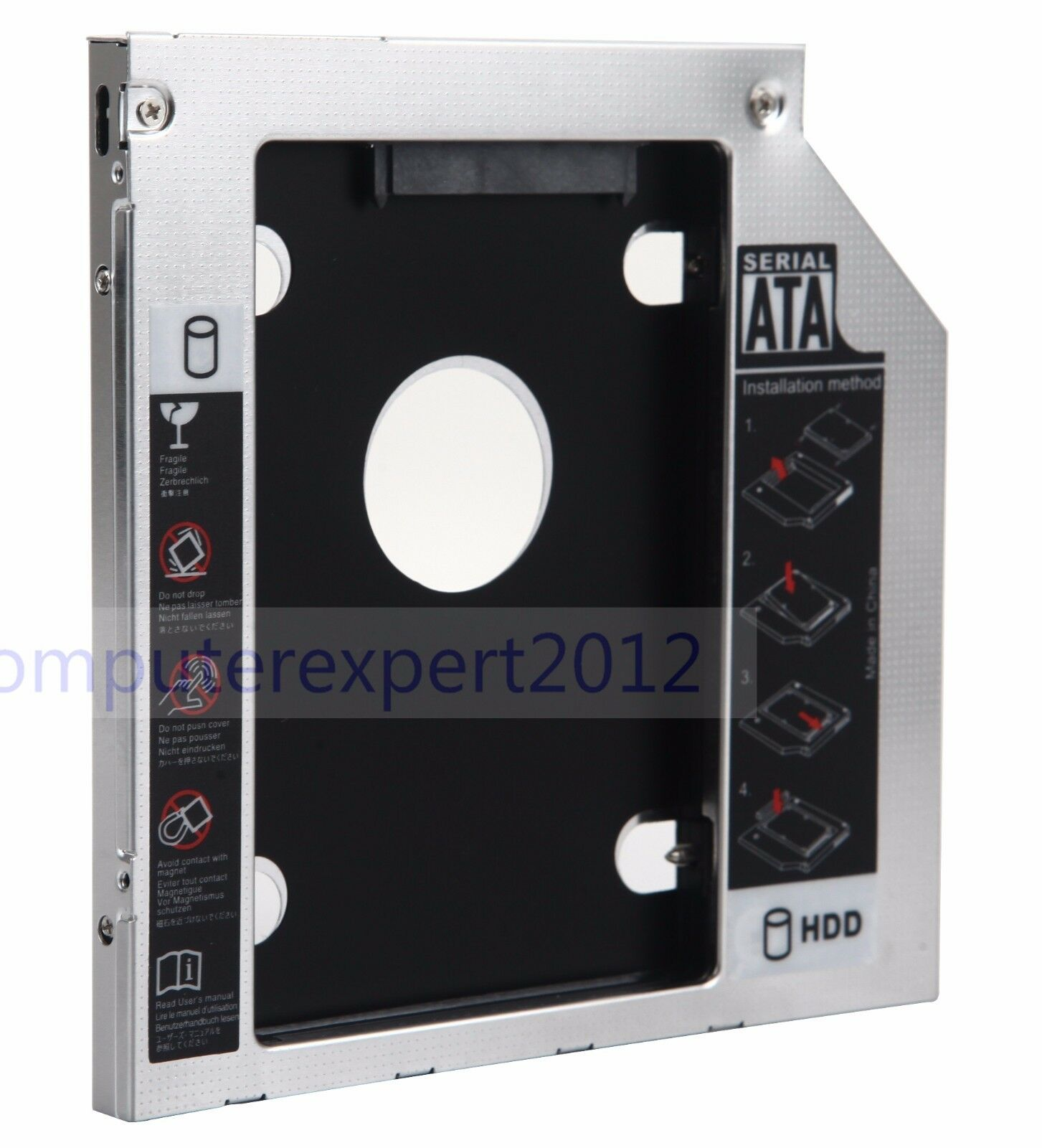 2nd Hard Drive HDD SSD Enclosure Caddy for Lenovo IdeaPad G70-80 Z70-80 Z51-70