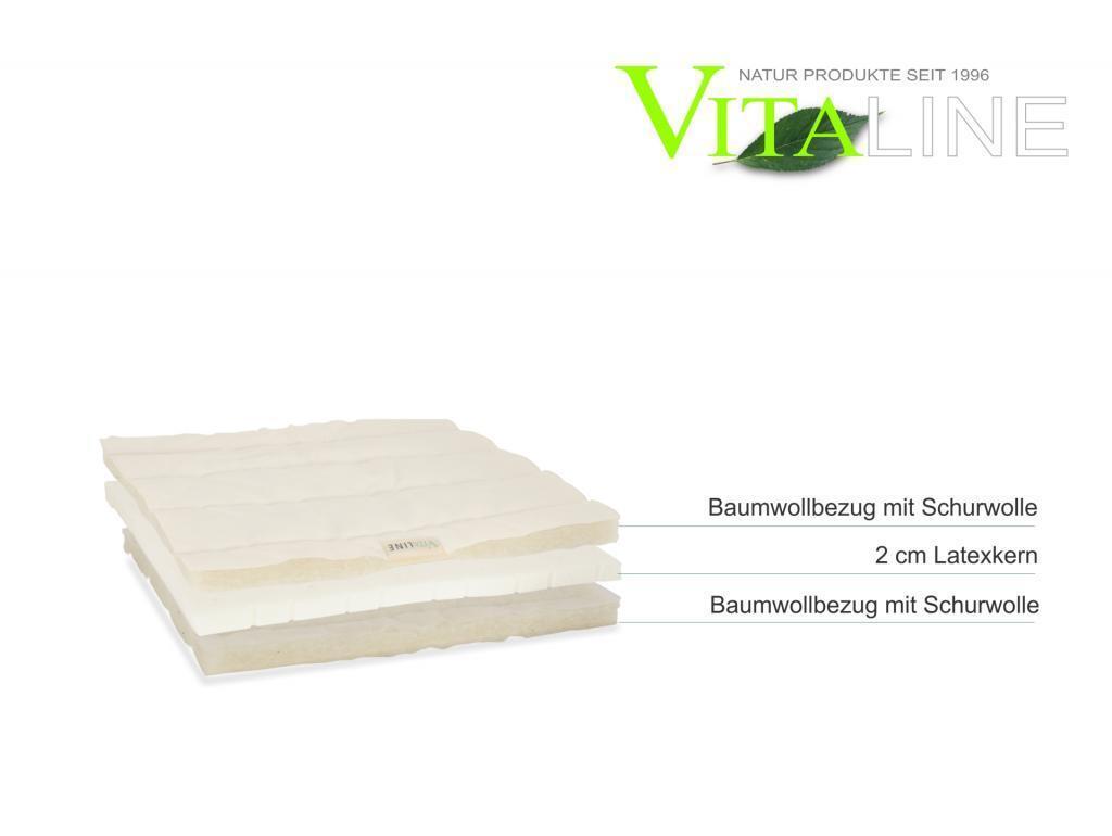 Matratzen-Auflage Topper 2cm Latex Vita-line
