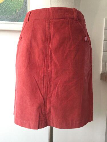 Seasalt répandant lignes Jupe-Barn Red-UK10-Vente échantillon économisez!