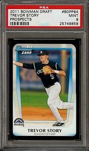 2011-Bowman-Trevor-Story-Rookie-RC-Draft-Picks-amp-Prospects-BDPP84-PSA-9
