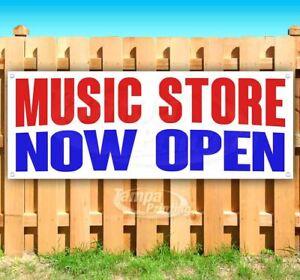 MUSIC STORE NOW OPEN Advertising Vinyl Banner Flag Sign Many Sizes
