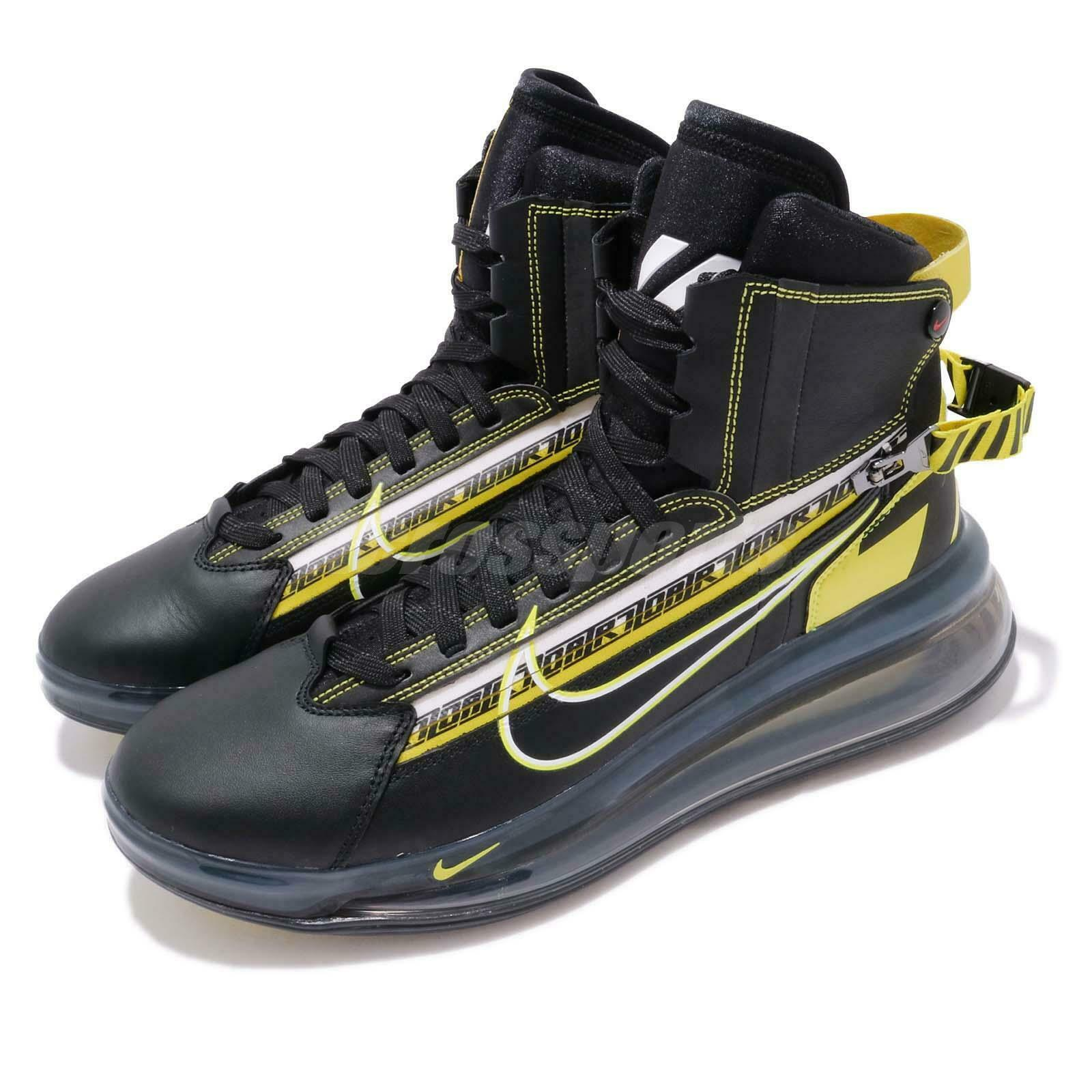 Nike Air Max 720 Saturn AS QS All Star 2019 Motorsport Black Yellow BV7786-001