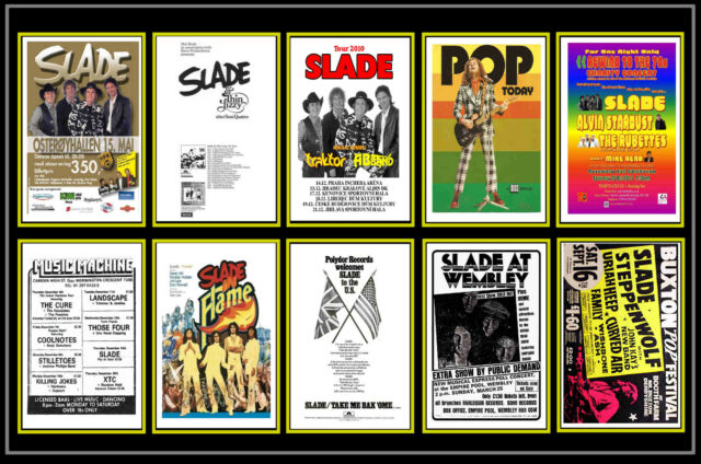 SLADE  -  COLLECTION OF 10 MIXED POSTCARDS # 1