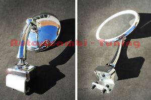 Specchietto-Cromato-Rotondo-DX-SX-FIAT-500-D-F-L-R-Fissaggio-a-Morsetto-AC005