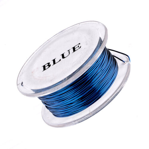 10 Yard Spool 20 Gauge Permanently Colored Wire Blue Colored