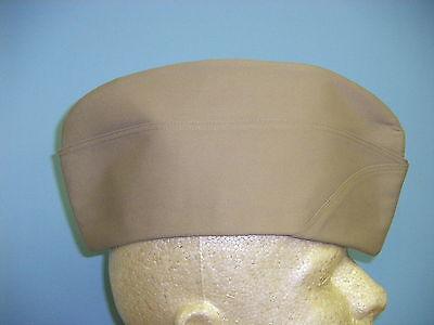 large b0613-L  WWII US Army EM Khaki Garrison Cap unpiped