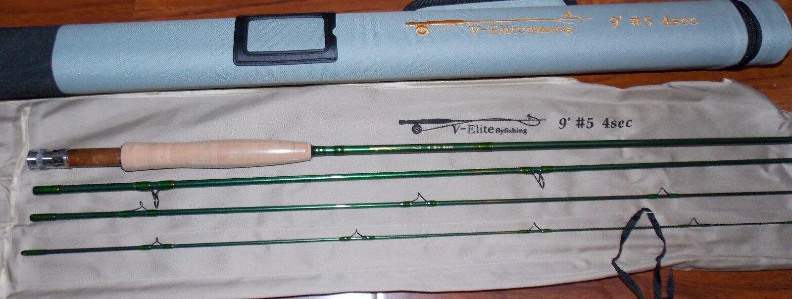 Caña con mosca 5WT 9FT Grafito IM12 Pesca con Mosca Rod & Cordura Tubo de envío gratuito de 3 días