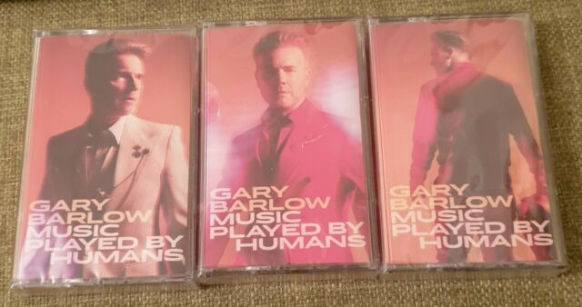 Gary Barlow - Music Played By Humans - Three Cassettes NEW - Red White Glitter