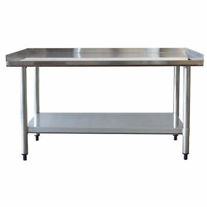 Sportsman-Series-Upturned-Edge-Stainless-Steel-Work-Table-24-x-48-Inches
