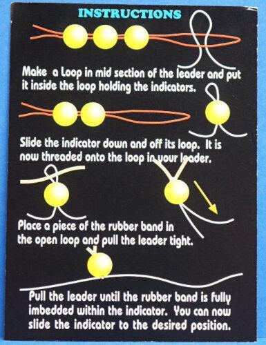 Indicator System Lightning Strike Wapsi USA Ø 6mm Anleitung 6 Stück FLUO YELLOW