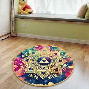 Legend Of Zelda Mandala Circle Velboa Floor Rug Carpet Room Doormat
