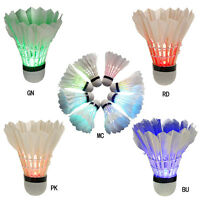 4Pcs Set Pack Luminous Badminton Night Light LED Goose Feather Shuttlecock Play