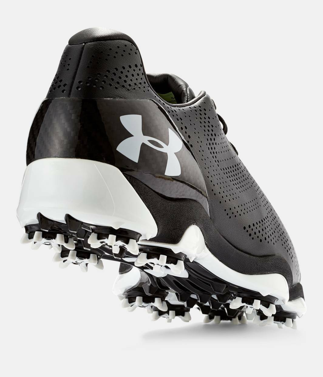newest 29cf5 94fc6 ... Under Armour UA Drive One One One Jordan Spieth Golf Shoes - Black  White 1267756-