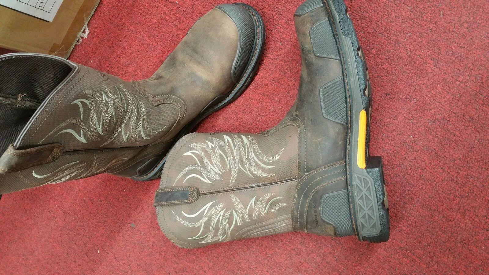 Gentleman/Lady ARIAT composite toe Cowboy work boots Quality queen In short supply Most practical