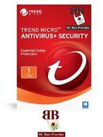 Trend Micro Antivirus Or Trend Micro Internet Security 2017 - 1 User, 1 Year