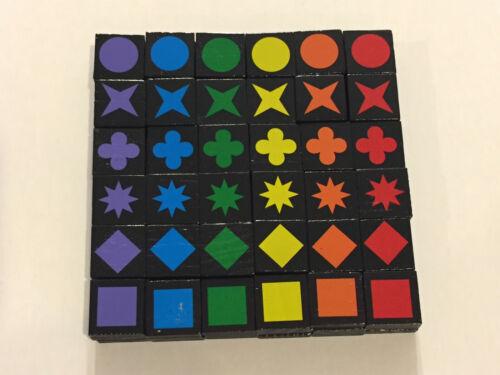 "Sold Per Each Qwirkle Travel Edition Replacement Tiles U-Pick; 3//4/"" square"