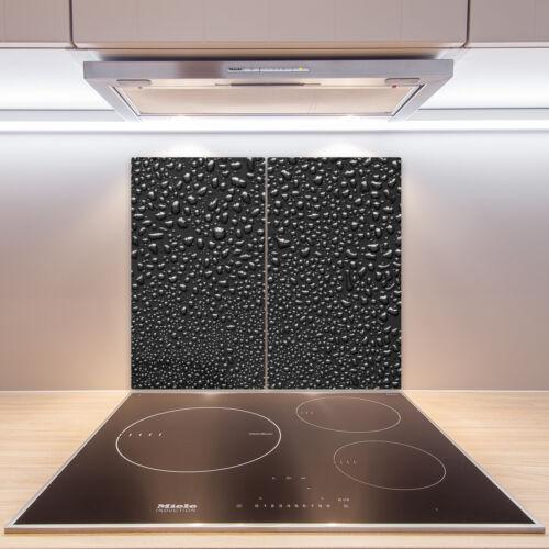 2x30x52 cm Herd-Abdeckplatte Glas Ceranfeld-Abdeckung Deko Wassertropfen
