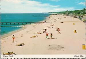 Central Beach Biloxi Ms Mississippi Gulf Coast Unused Vintage