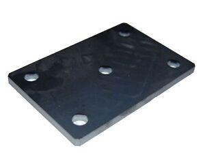 Stahlplatte-Ankerplatte-gelocht-gebohrt-Staerke-8mm-gelasert-150mm-x-100mm
