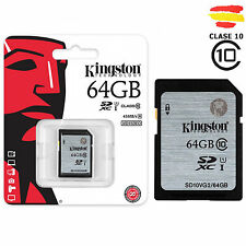 TARJETA MEMORIA SD 64GB KINGSTON CLASE 10 32 GB ORIGINAL SDHC HC