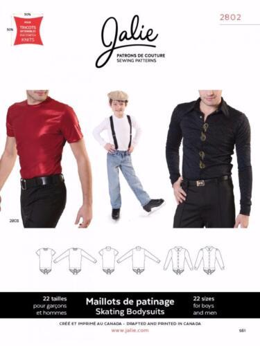 Jalie Men/'s Figure Ice Skating Bodyshirt Shirt Costume Sewing Pattern 2802