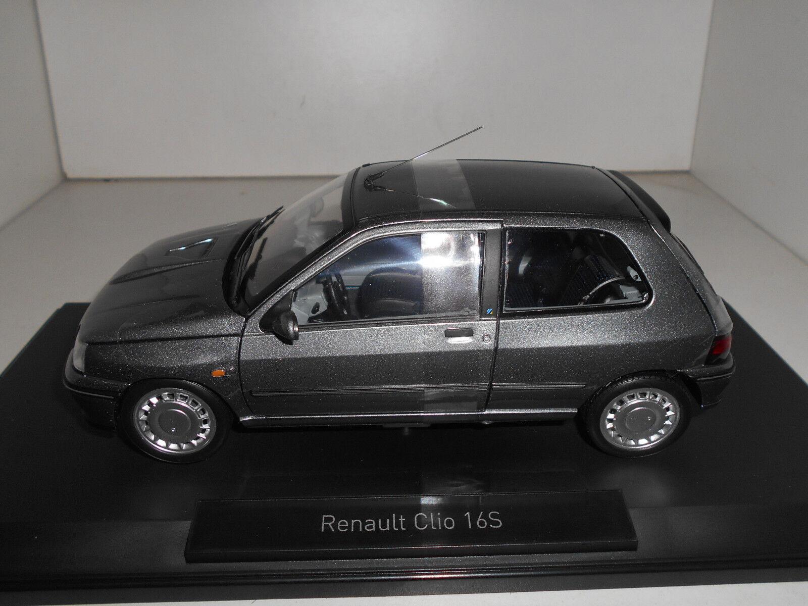RENAULT CLIO 16S 16V TUNGSTENE gris NOREV 1 18