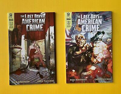 The Last Days Of American Crime Comics 1 2 Both Cover B Nm Beautiful Books Ebay